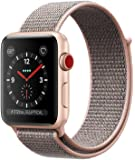 Apple watch series 3 Aluminum case Sport 42mm GPS + Cellular GSM unlocked (Gold Aluminum case with pink sand sport loop)