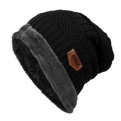 94c32c338b9 ZUMUii Butterme Mens Winter Warm Soft Lined Thick Knitting Wool Ski Hat  Daily Slouchy Beanie Skull