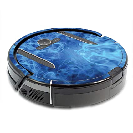 MightySkins Skin for Shark Ion Robot R85 Vacuum Minimum Coverage - Blue Mystic Flames | Protective