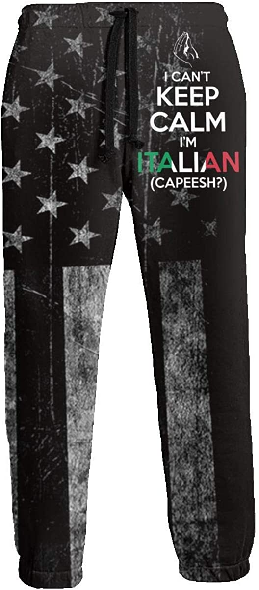 MENP-1M I Cant Keep Calm,Im Italian Boys Joggers Pants Training Trousers with Drawstring and Pockets