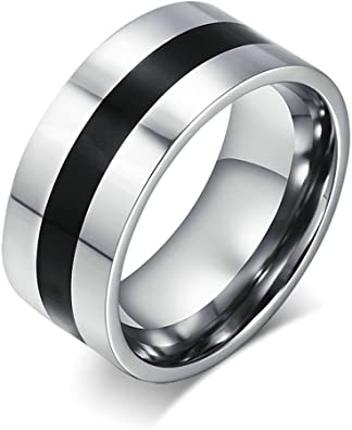 KnSam Women Stainless Steel Wedding Bands 6MM Round Crystal Comfort Fit Gold Silver Novelty Ring