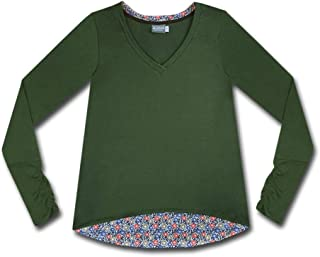 product image for Majamas Aurora Top - Women's eco-Friendly Ethically Made Long Sleeve v-Neck tee Shirt