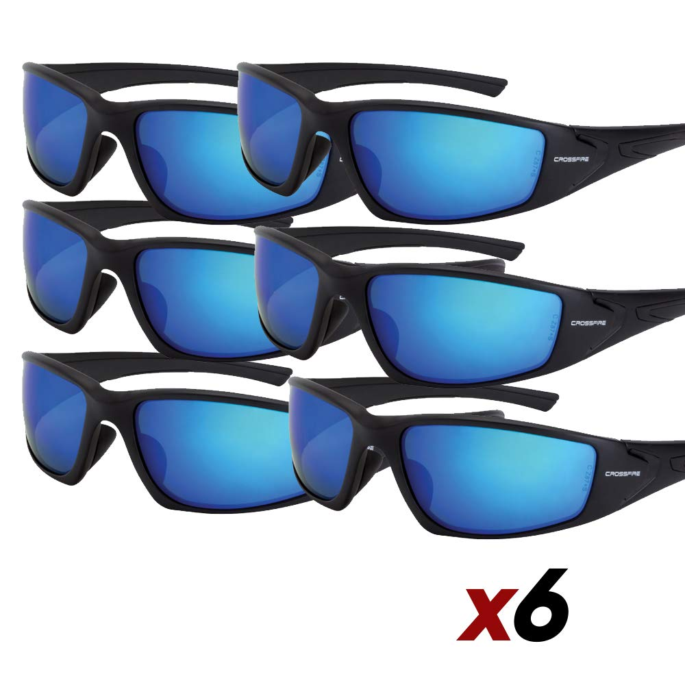 Crossfire Eyewear 23226 Rpg Polarized Safety Glasses (6 Pack)