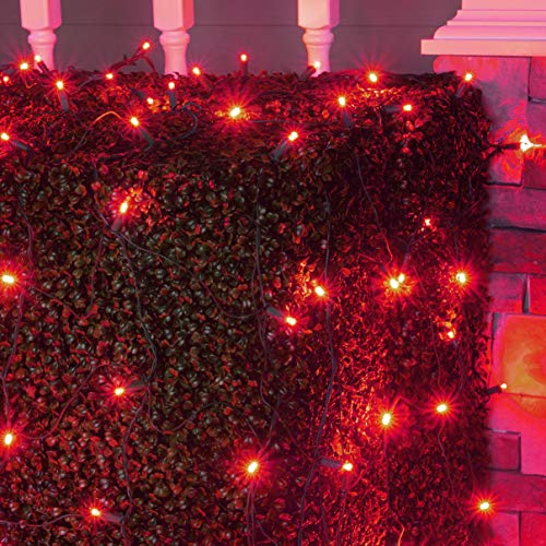 Christmas Led Net Lights Red in US - 4