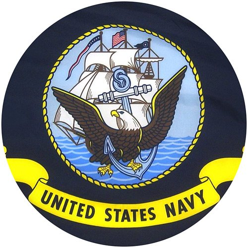 US Navy Flag 3x5 - 100% Made In USA using Tough, Long Lasting Nylon Built for Outdoor or Indoor Use, UV Protected and Featuring Locked Stitches on Hems and Quadruple Stitching on the Fly End