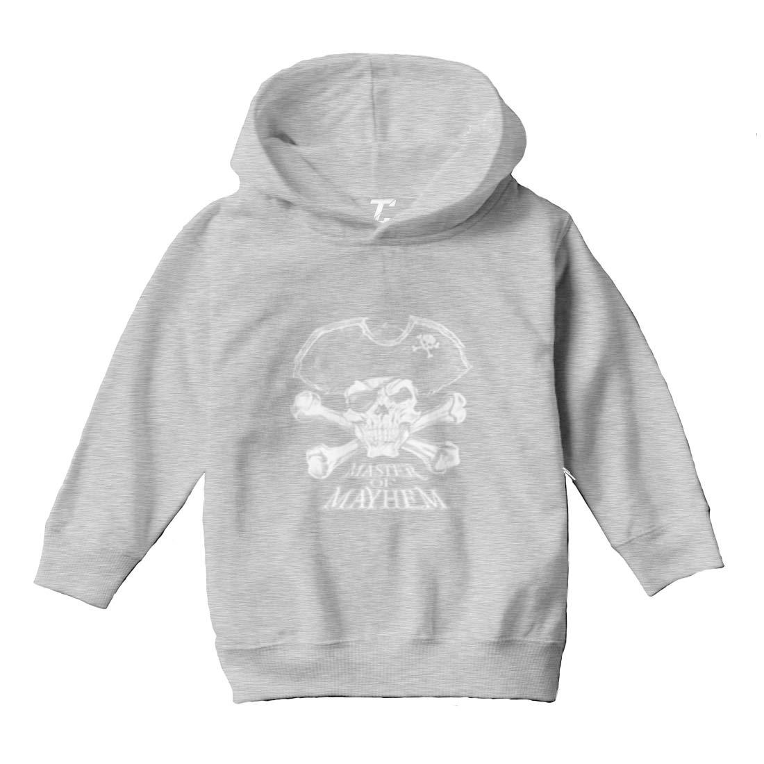 Pirate Skull Toddler//Youth Fleece Hoodie Tcombo Master of Mayhem