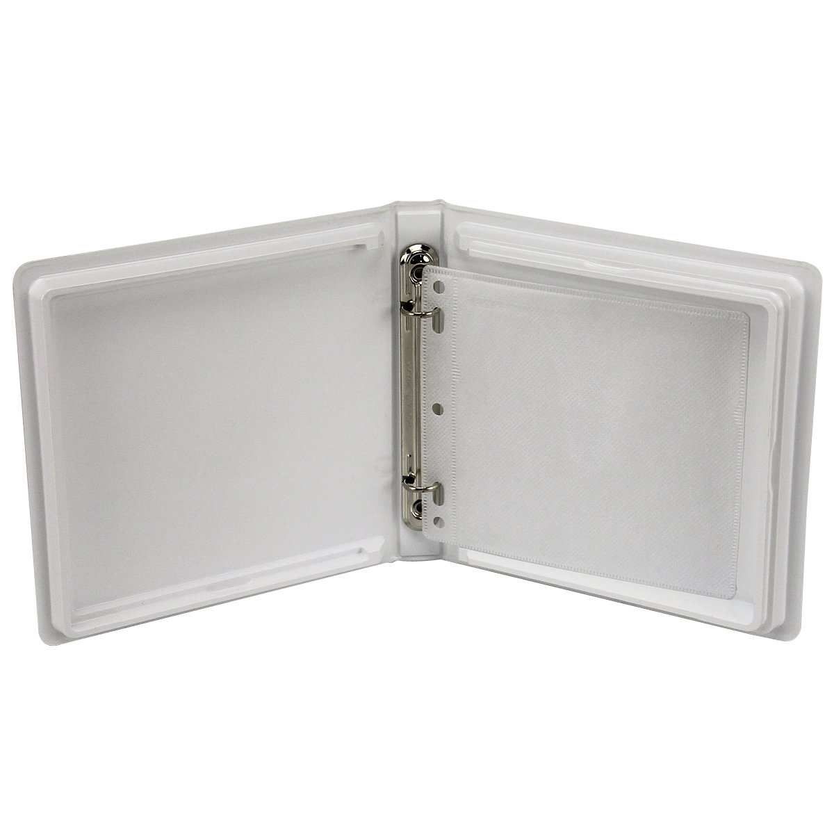 CD/DVD Binder Albums with Lined Pages-White-2 Capacity-7'' x 6-3/4'' x 1''