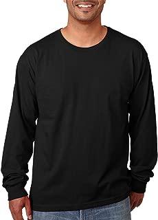 product image for Bayside 5060 Long Sleeve Tee 5.4oz - Black - Large