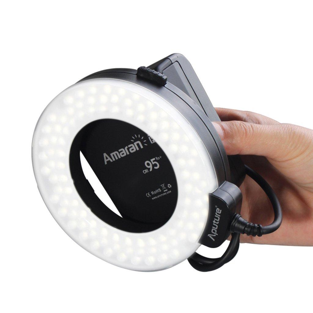 Aputure New Amaran Halo AHL-HC100 Flash annulaire à LED pour Canon 1DX 5D Mark III 5D Mark II 6D 7D 70D 60D 60Da 700D 600D 100D 1100D Oxford Street