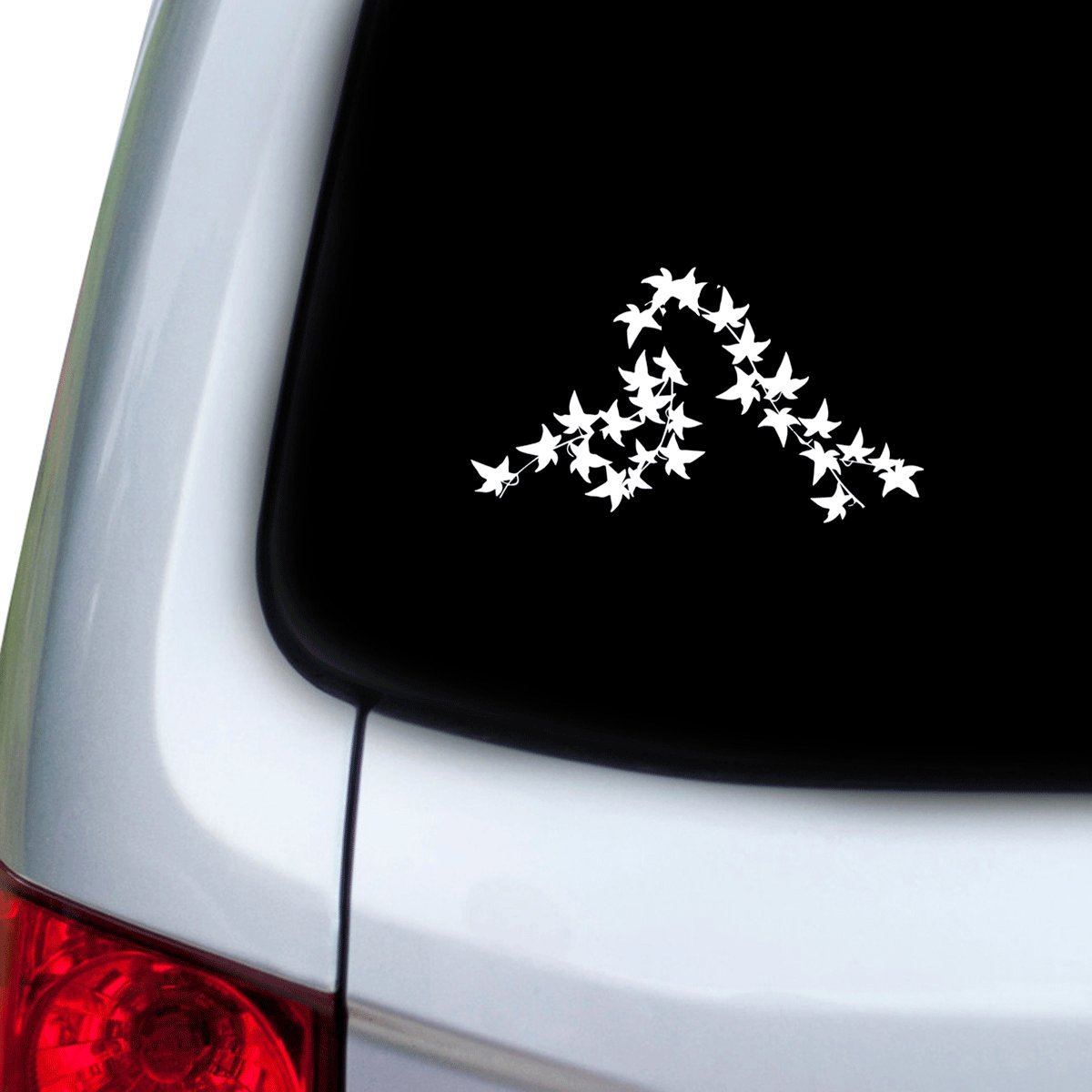 StickAny Car and Auto Decal Series Ivy Plants 4 Sticker for Windows Doors White Hoods