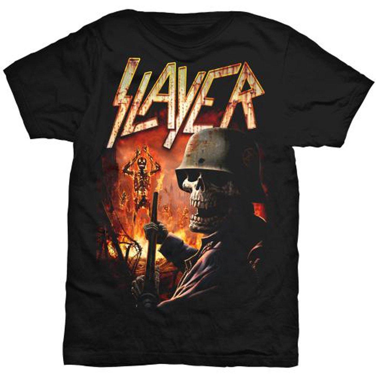 AWDIP Mens Official Slayer Zombie Torch T-Shirt Band Metallica USA Black