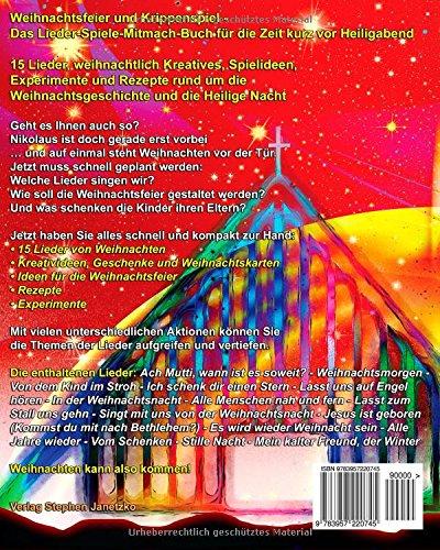 Spielideen Für Weihnachtsfeier.Weihnachtsfeier Und Krippenspiel Das Lieder Spiele Mitmach Buch
