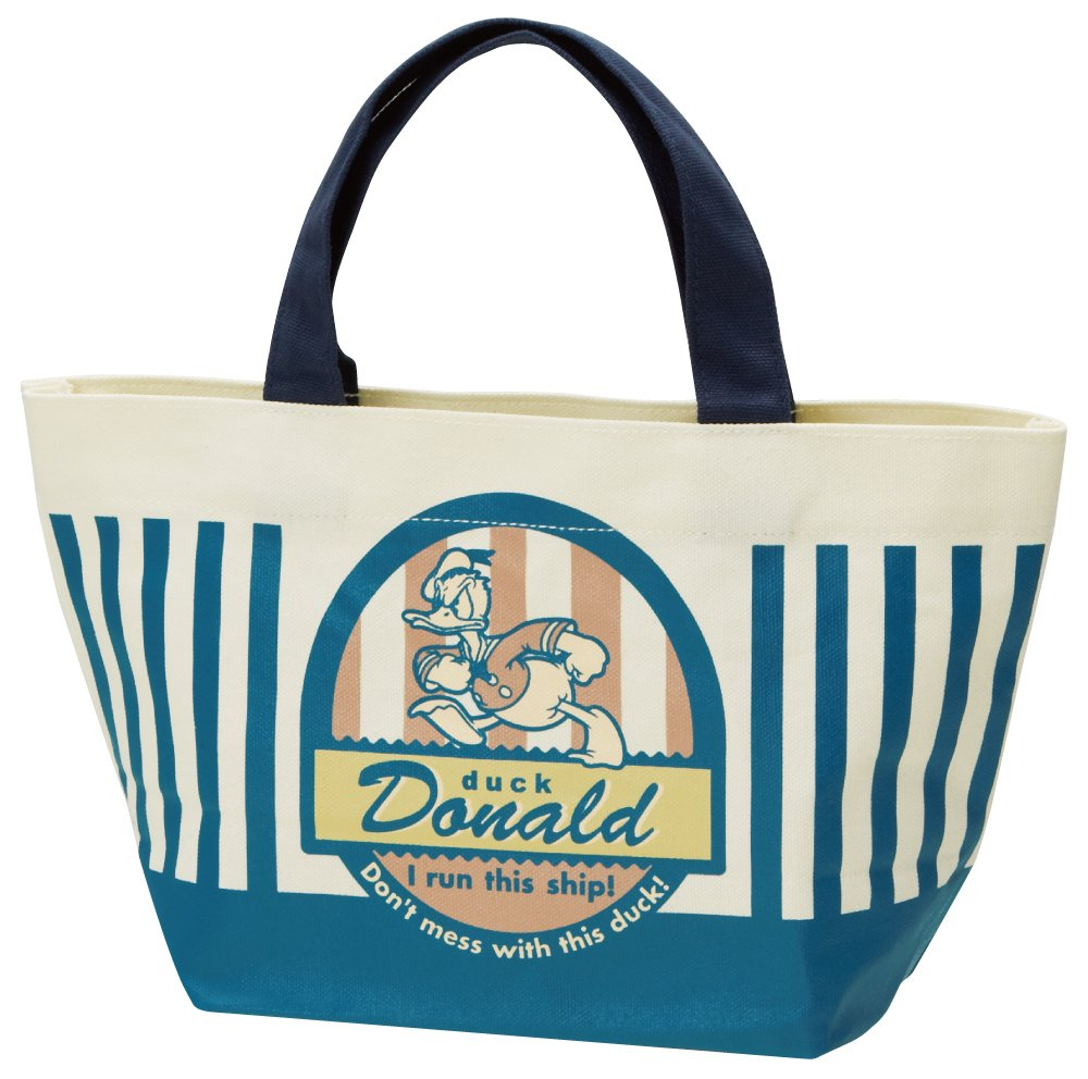 Canvas lunch tote bag Donald Duck badge collection Disney YEB2