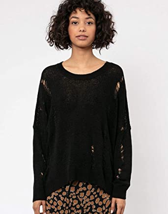 Religion Bloom Jumper Pull, Noir (Jet Black