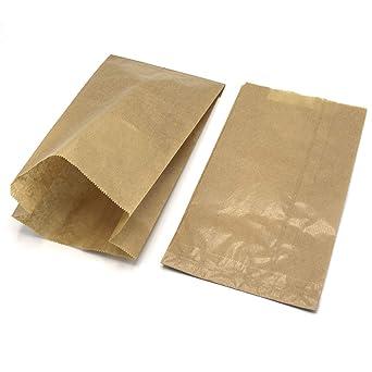 Bolsa de Papel Kraft para Alimentos, Anónima, 18+7x30 ...