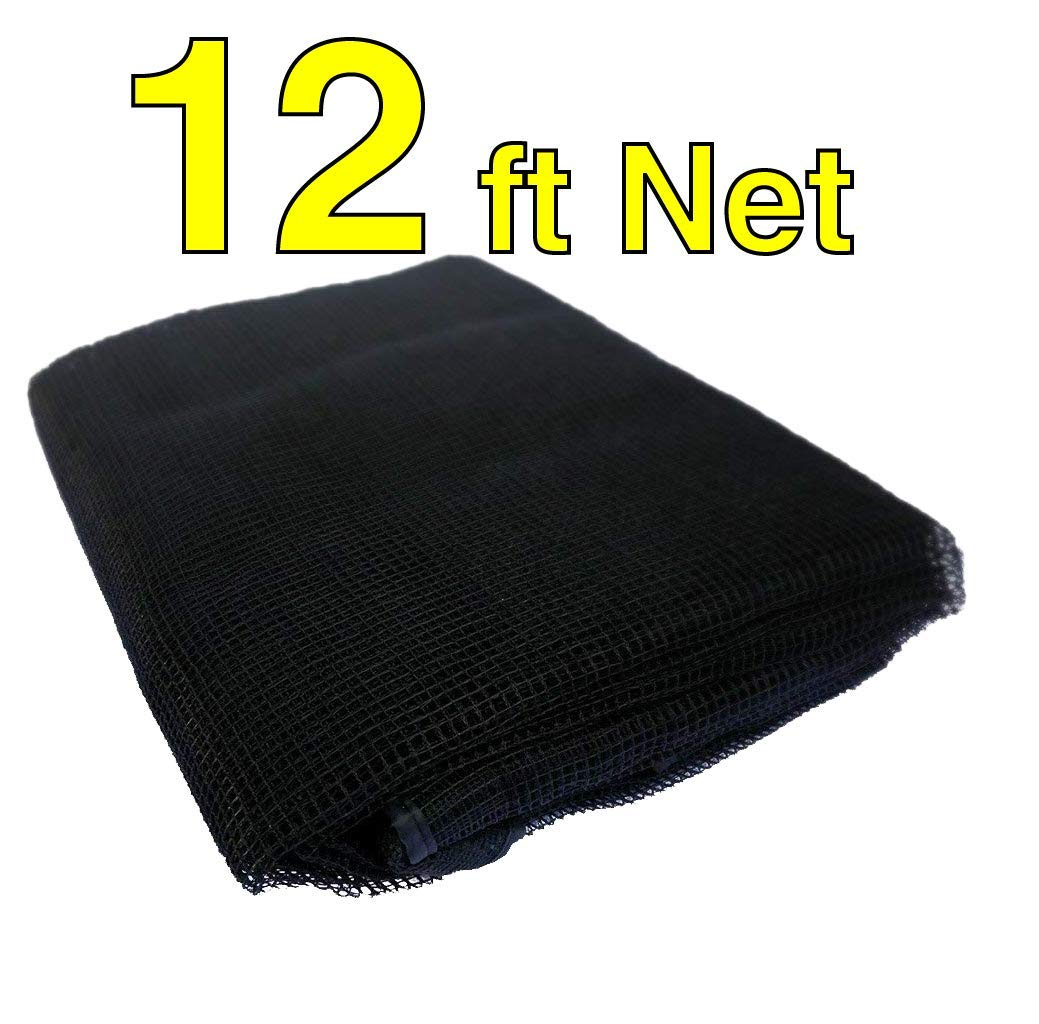 12 Foot Net 12'   Fits 4 Poles   Top Ring Trampoline Enclosures Nets (Net Only)   Find Your Size by Selecting Your Existing  Pole Shape  Frame Size    of Poles