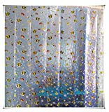 Clear Shower Curtain with Fish Design HOMEPPE Sea Fish Transparent EVA Shower Curtain with Hooks, Clear 3D Lifelike Fish Curtains, Eco-friendly Waterproof Mildew-free Bath Curtains for Bathroom/School Dorms/Apartment 71