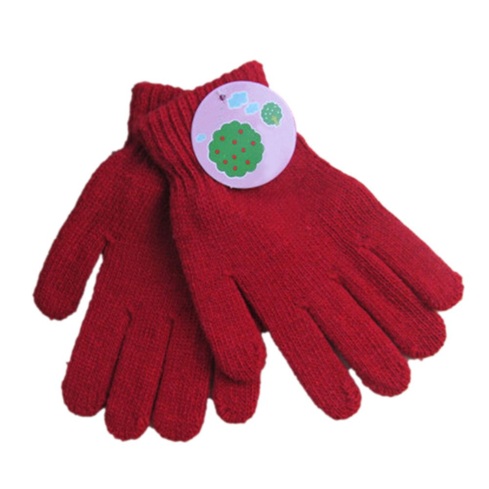 TopTie Kid Knit Gloves, One Size - rose red,S GLOH-DP63252_ROSERED-S