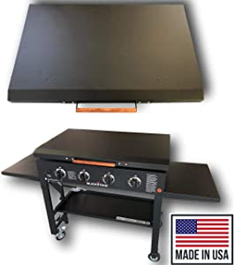 36 Inch Black Stone Griddle Cover Lid, Powder Coated Black Aluminum Lid Storage Cover for 36 inch Black Stone Griddles - Made in USA