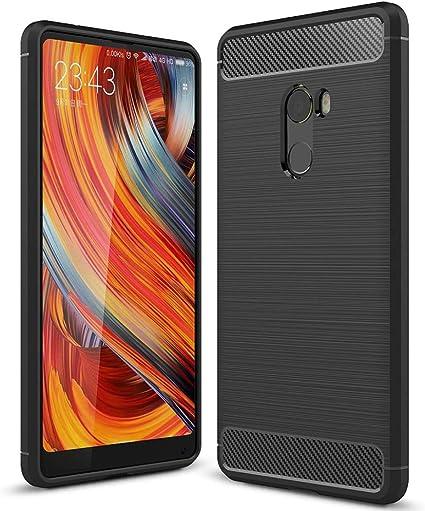 Tope Fino para Xiaomi Mi Mix 2 | Negro Elegante Diseño Opaco Otoño ...