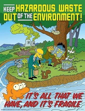 Simpsons Environmental Safety Poster Keep Hazardous