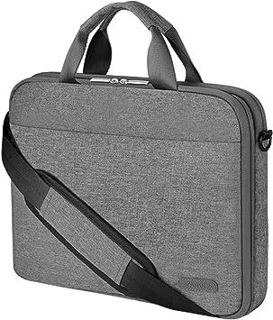 Arvok Funda para portátil de Estuche para Accesorios con Correa y asa, maletín para Ordenador portátil Maletín para Acer/ASUS/DELL/Lenovo/HP (15.6-Pulgadas, Gris): Amazon.es: Electrónica