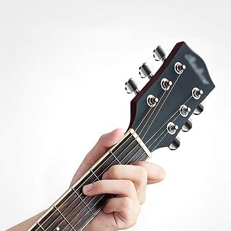 Loivrn Guitarra acústica minimalista de una sola placa 3/4 ...