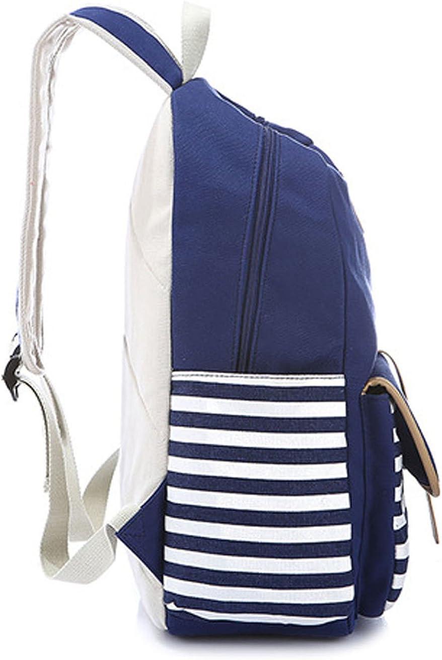 Greeniris femmes vintage sac /à dos toile cartable pour fille coll/ège