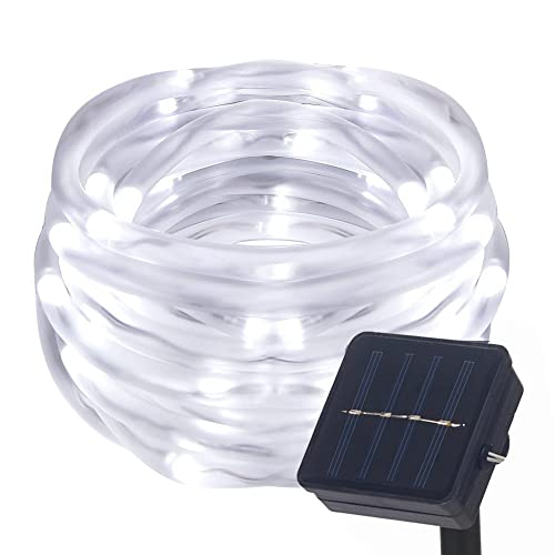 Le 100 leds solar rope lights 10m waterproof outdoor path lights lamker led solar rope lights waterproof indoor outdoor tube string light copper wire 41ft 100 leds aloadofball Images