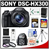 Sony Cyber-Shot DSC-HX300 Digital Camera (Black) with 32GB Card + Battery & Charger + Backpack + Tripod + 3 Filters + Accessory Kit