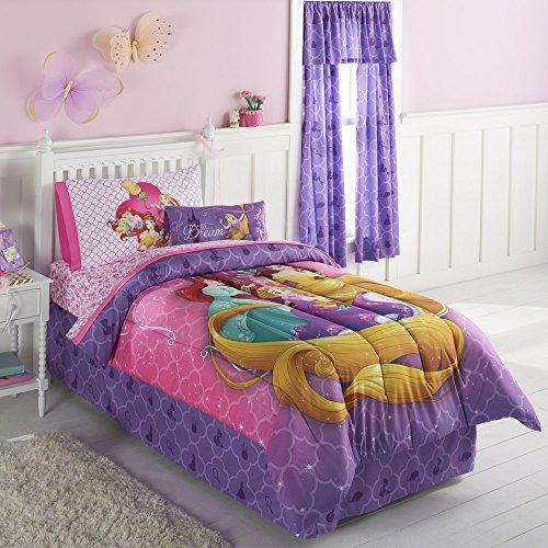 Disney Princess Belle, Ariel & Rapunzel Queen Comforter & Sh