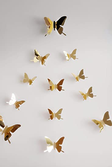 Amazon.com : YCT DIY 3d Butterfly Wall Decor, Acrylic Butterfly ...