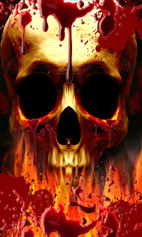 Amazon.com: Blood Drop Skull on Fire LWP: Appstore for Android