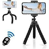 W-ingstar ミニ三脚 三脚ホルダー くねくね三脚 カメラ用 フレキシブル 360度回転 Bluetooth リモコン付き 自撮り 軽量 持ち運びに便利