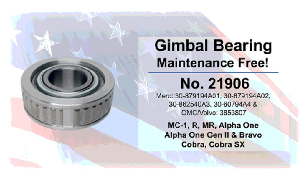 Gimbal Bearing MerCruiser OMC Cobra Volvo Penta SX 983937 3853807 30-60794A4