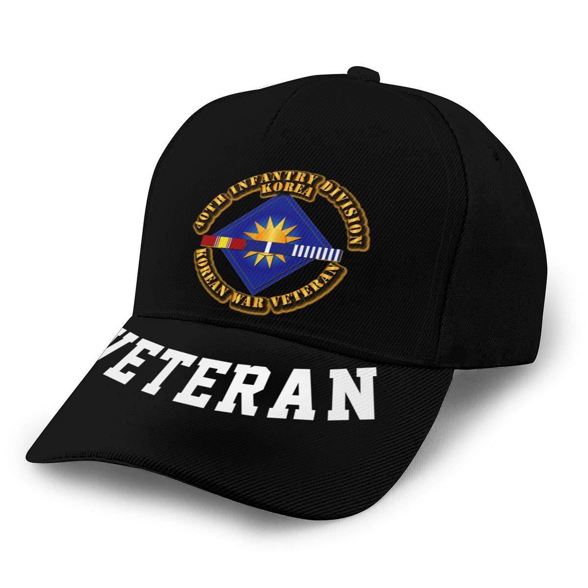 40th Infantry Division Korean War Veteran Baseball Cap Dad Hat Unisex Classic Sports Hat Peaked Cap Veteran Hat