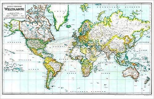 Die Welt Karte.Hist Karte Neue Grosse Weltkarte 1940 Gerollt Die Welt