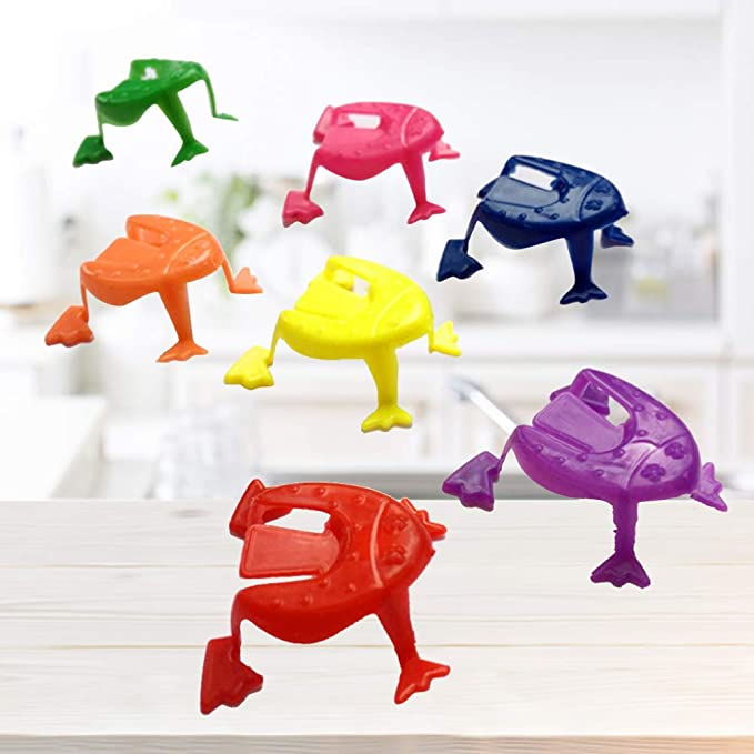 Set of 24 24-Pack The Dreidel Company Passover Vinyl Stretchable Flying Frogs Passover Toys
