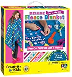 Big kids, little kids, even moms and grandmas will love this Easy Weave, No-Sew fleece blanket kit. It's colorful, cozy and so easy to do! No tedious tying necessary; just use the pre-cut fleece base along with the Easy Weave fleece strips. F...