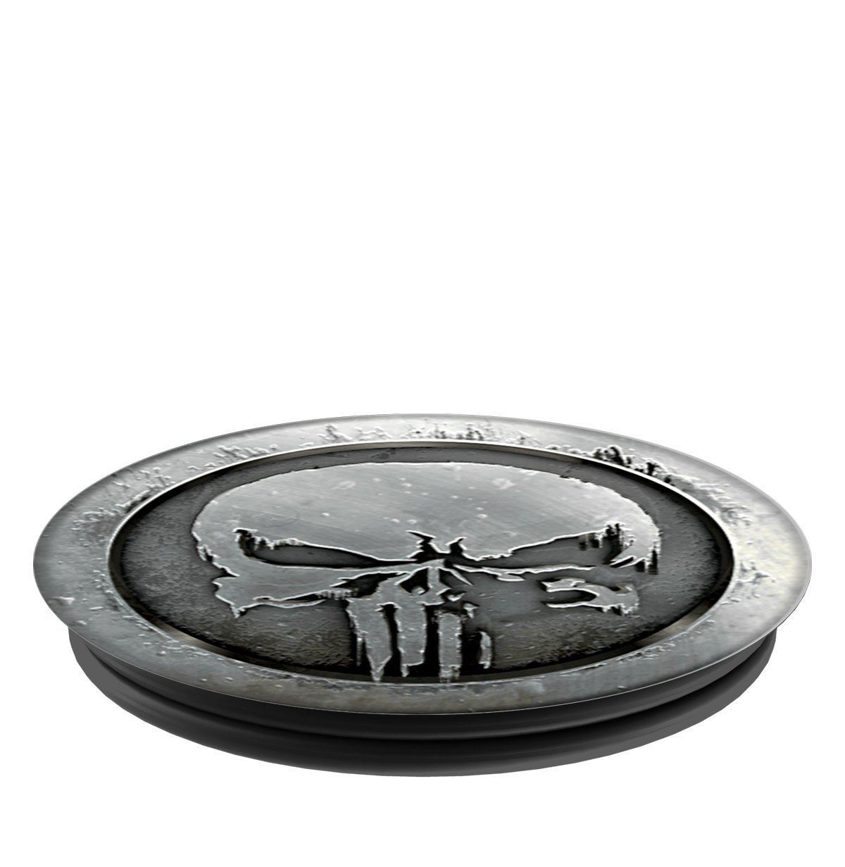 PopSockets: Collapsible Grip and Stand for Phones and Tablets - Marvel - Punisher MonoChrome by PopSockets (Image #3)