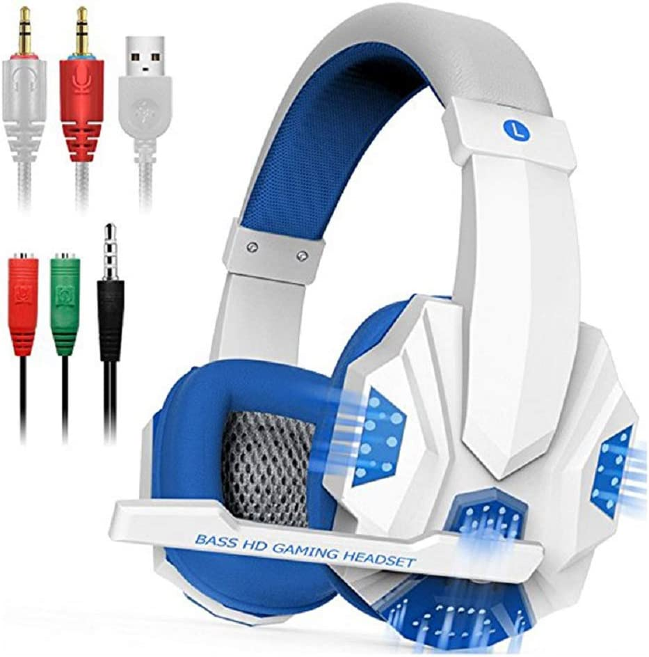 Xbox One Controller Stereo jingru Surround Sound Stereo Aming Headset with Mic and LED Light/ï/¼/Œ3.5mm Wired Noise Isolation Gaming Headset for PS4 PC