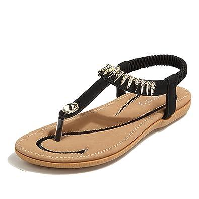 Mens Shoes Flip Flop Shower Sandals Slip On Thong Elastic Strap Black Size 44 EU