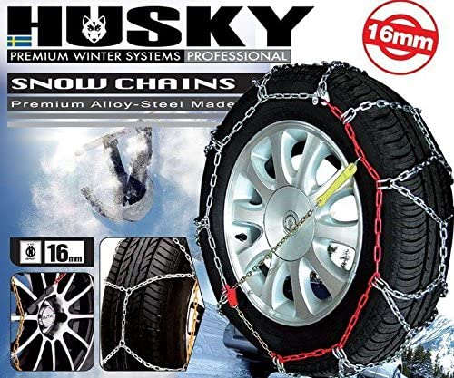 175//80 R15 Pair Husky Sumex Winter Professional 16mm 4WD Snow Chains for 15 Car Wheel Tyres