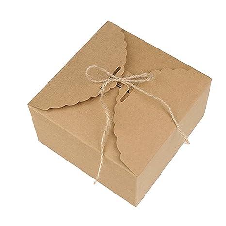 """Xuxuou 5 Piezas Caja de Cartón Pastel de 14.2 X 14.2 X 8CM (5.59"""""""