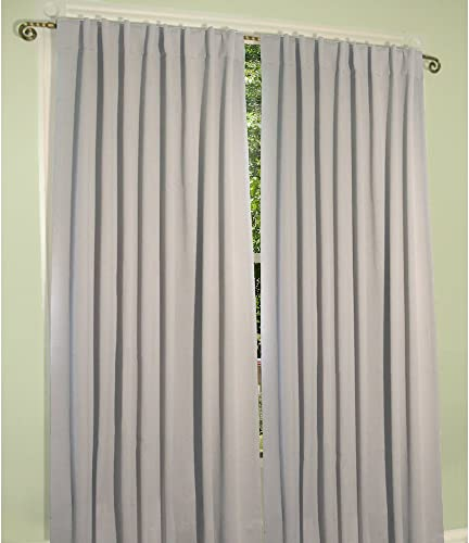 Ricardo Trading Ultimate Blackout Solid Color Rod Pocket Single Curtain Panel, Putty 112 W x 84 L