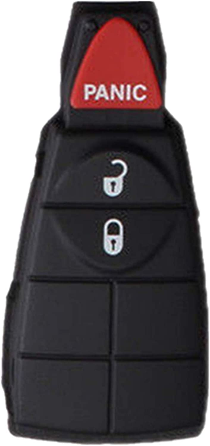 KAWIHEN Keyless Entry Remote Key Fob Skin Replacement For Chrysler Town AND Country Dodge Durango Grand Caravan Journey Ram 1500 2500 3500 Jeep Grand Cherokee GQ4-53T M3N5WY783X IYZ-C01C