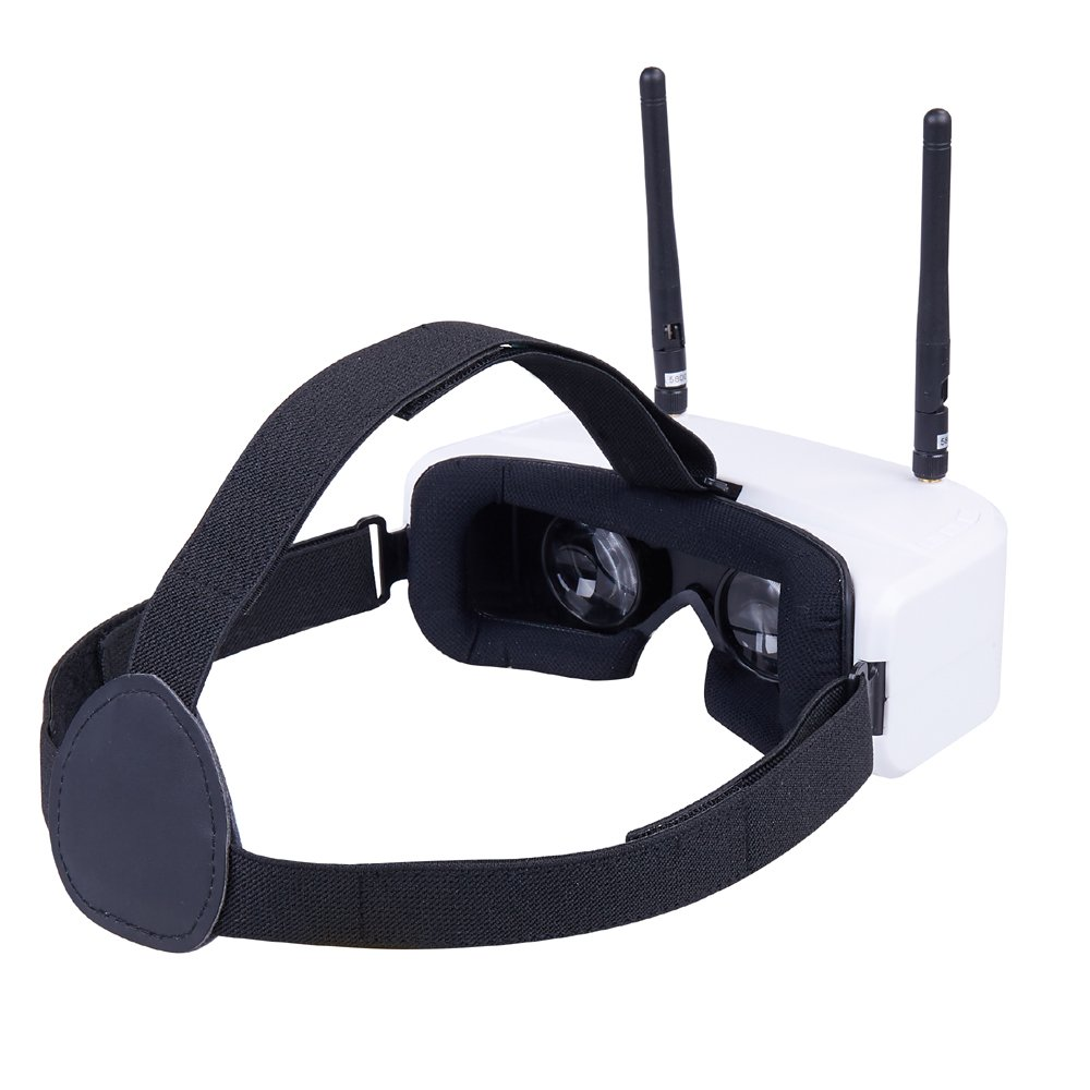 HOBBYMATE FPV Goggles for FPV Racing Drone 5.8G 48 - Channel w/Dual Display and Diversity Receiver, Auto Frequency Scan