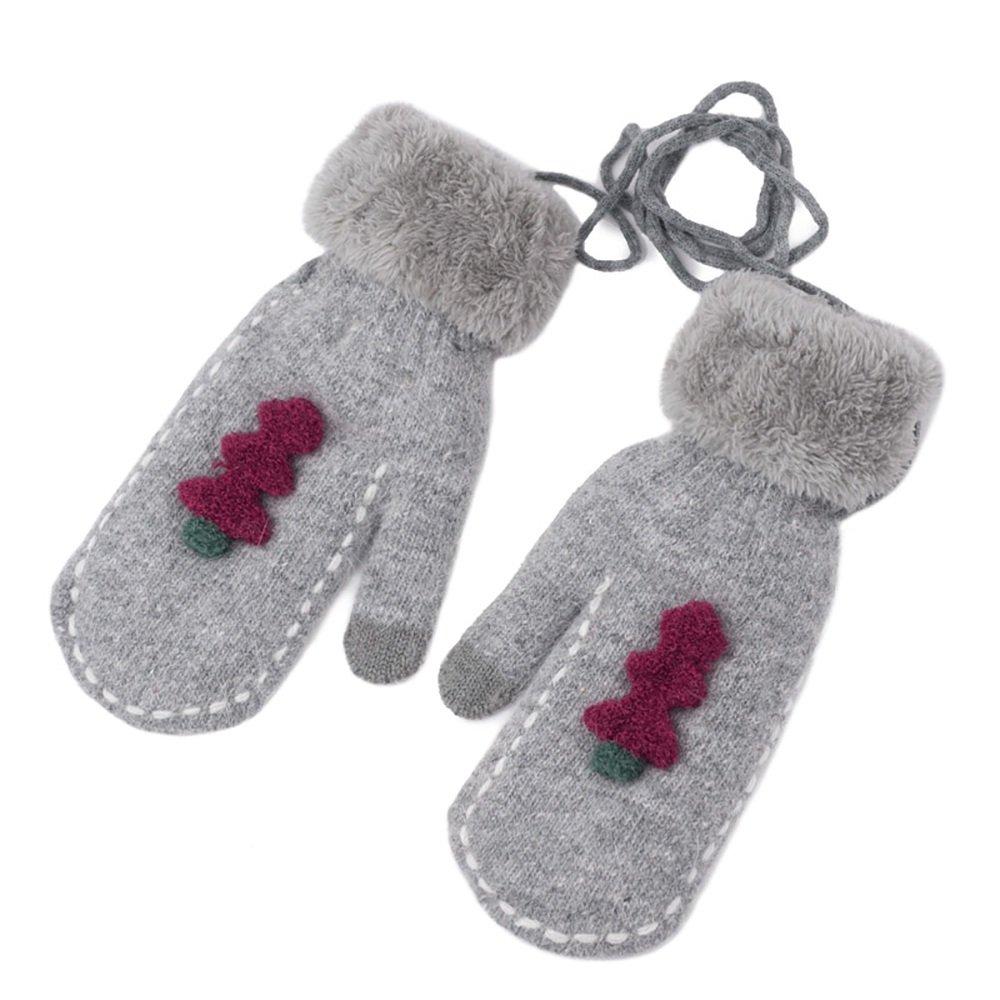 LJHA guanti invernali di inverno che ispessiscono il collo che appendono i caldi comodi caldi studen...