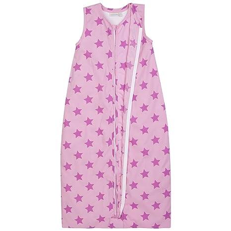 JOJO Maman Bébé – Saco de dormir 3 en 1 Rosa diseño de estrella plateado rosa