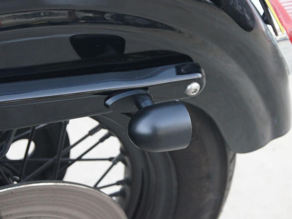 Integrated LED Motorbike Stop Tail Lights /& Indicators with Blanking Plugs Black CNC Billet Aluminium